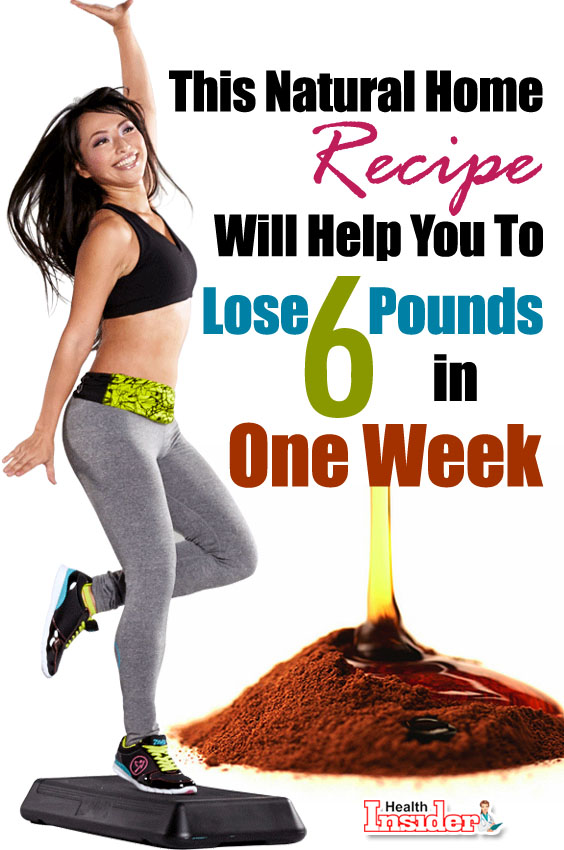 Natural Home Recipe Will Help You Lose 6 Pounds in One Week
