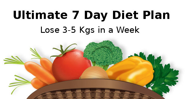 7 Days Diet Plan - Loss Weight Program