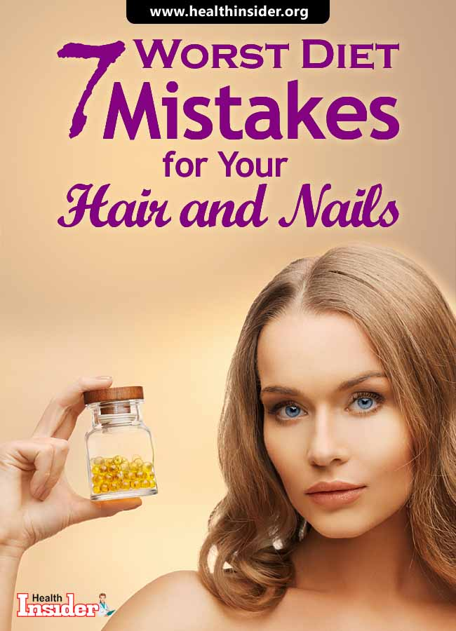 We've picked out all the wrong dietary habits that are harming the health of your hair and nails. #dietmistakes #brittlenails #brittlehair