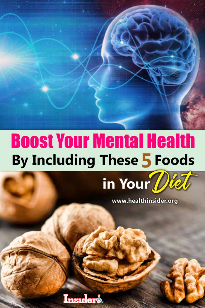 Read to learn more about the 5 best foods you can eat to boost your mental health. #mentalhealth #healthyeating #brainhealth