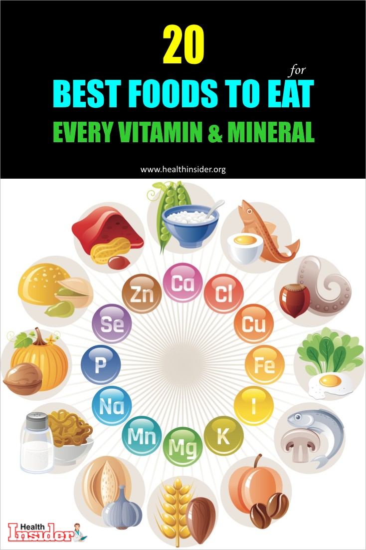 Here are 20 best foods that can provide your body an abundance of vitamins, minerals and other essential nutrients, along with some delicious recipes to give your taste buds a nutritious treat. #vitamins #minerals #healthyeating