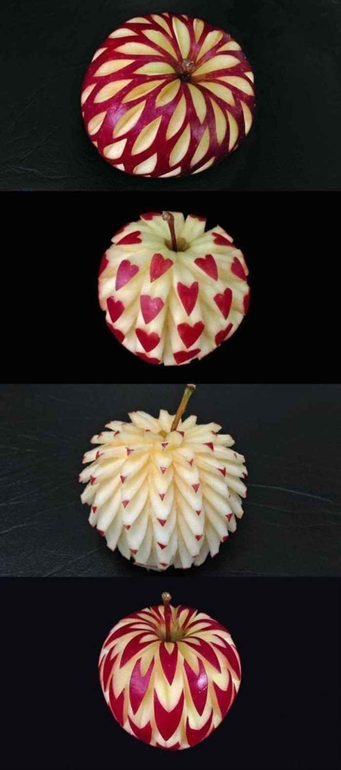 Apple Decorations Carving Ideas