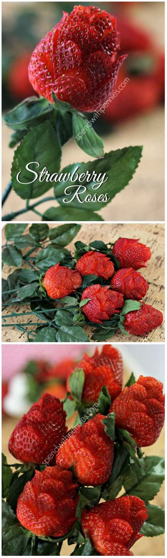 Strawberry Roses Carving Ideas