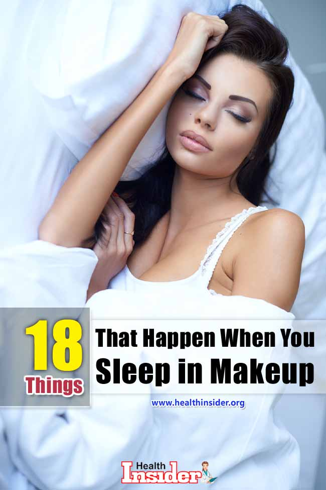 Here is a list of all the damages and hazards your skin has to suffer, especially the pores and lashes, when you fail to remove your makeup before sleeping. #removemakeup #thingshappen