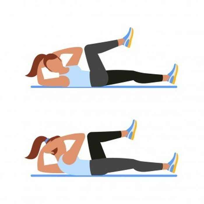 Bicycle Crunch Core Workout