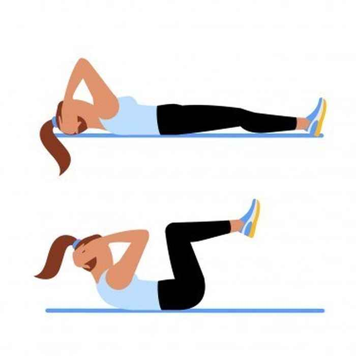 Knee In Crunch Core Workout