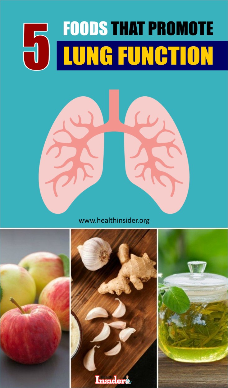 Here are 5 best foods that promote lung function.