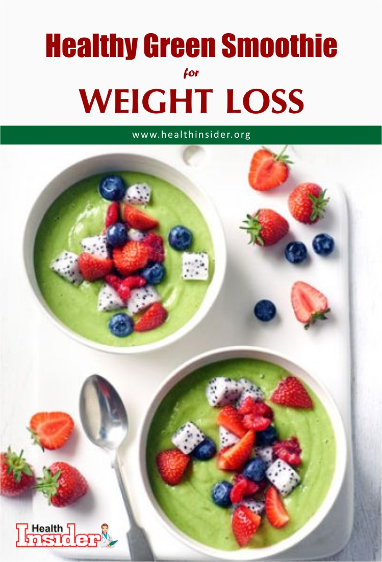 Try this Green Smoothie Bowl for Weight Loss. #smoothie #weightloss