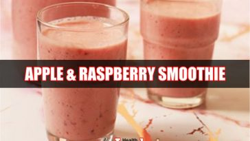 Raspberries and Apple Smoothie