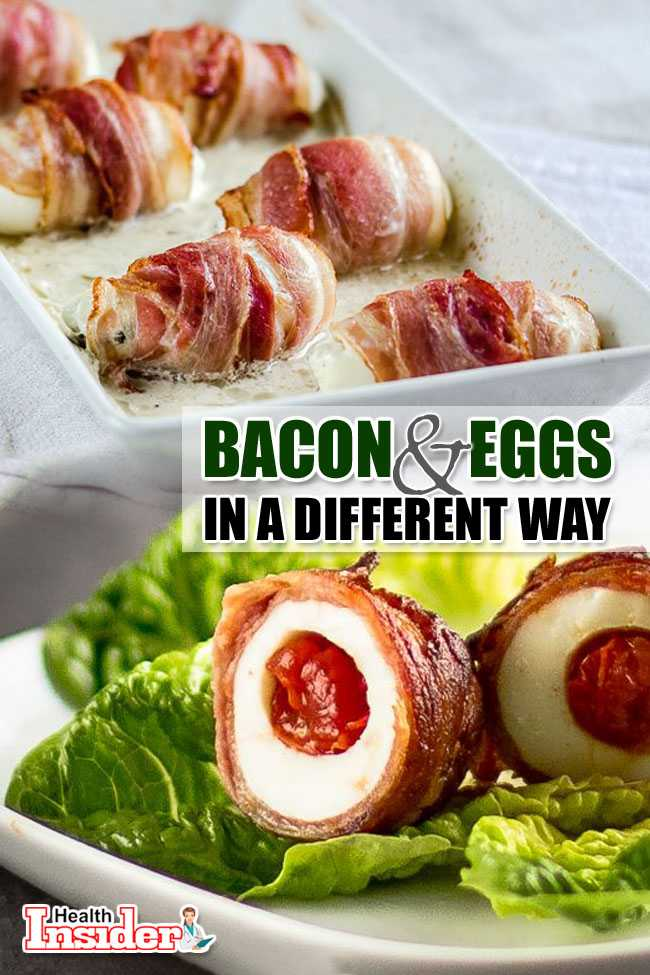 BACON AND EGGS IN A DIFFERENT WAY