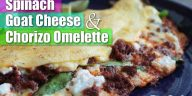 Spinach, Goat Cheese & Chorizo Omelette